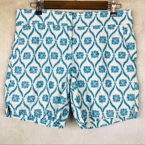 Loft | The Riviera Shorts | Blue - Cream | 4
